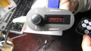 Автомобильный MP3 Player FM modulator обзор(Обзор проигрывателя MP3 - FM модулятора для авто. Куплен по акции за 2 доллара. Ссылка на магазин: http://www.buysku.com/whol..., 2013-12-17T00:40:14.000Z)