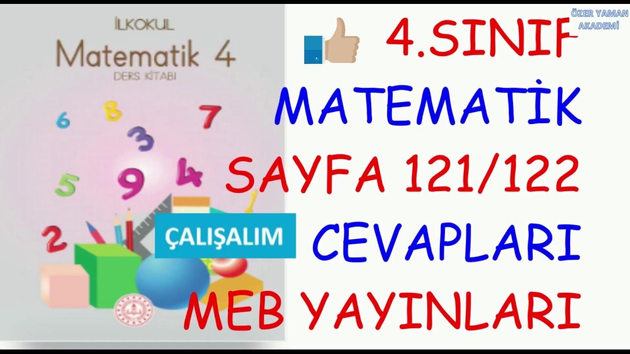 4 Sinif Matematik Sayfa 121 122 Calisalim Cevaplari Meb Yayinlari