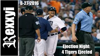 MLB | Ejection Night:  4 Tigers Ejected (8/27/2016)