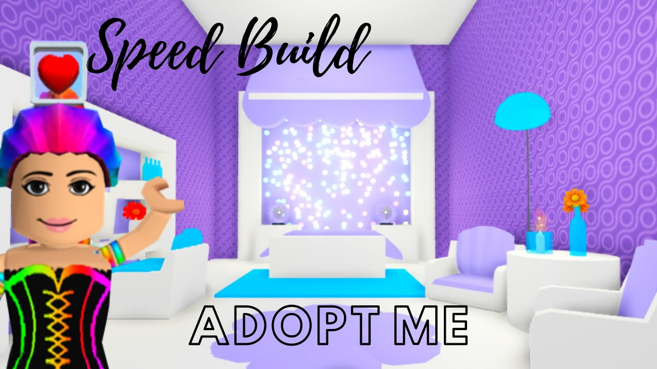 Adopt Me Speed Build - Adopt Me Design (Purple Bedroom ...