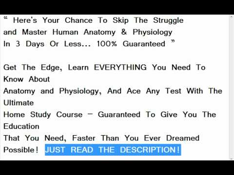 Master Human Anatomy & Physiology In 3 Days Or Less... 100 ...