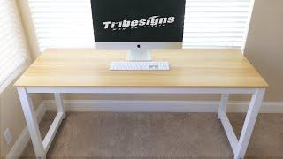 Tribesigns - Modern Desk - Walnut White
