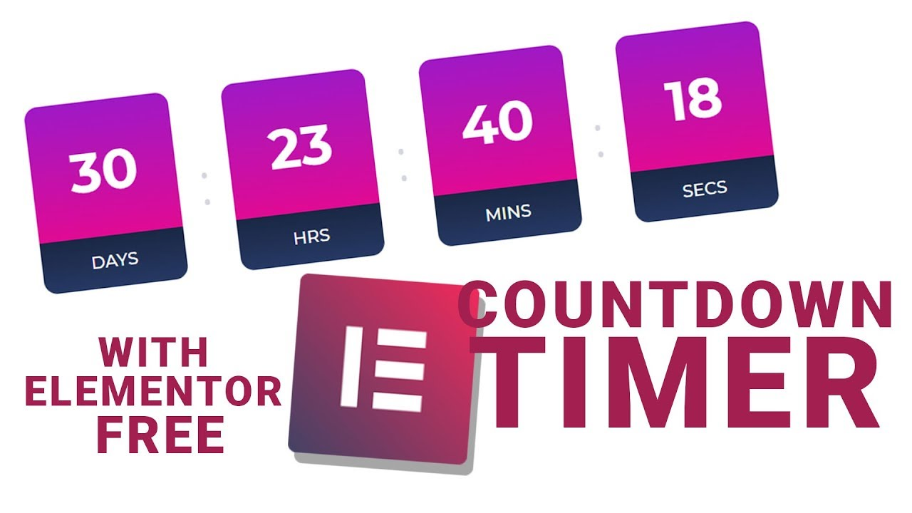 How to Create a Countdown Timer Module on Your Website with Elementor Page  Builder?