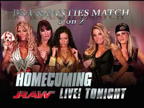 Bra & Panties Match Torrie Wilson, Candice Michelle and Victoria vs Trish stratus|Wwe