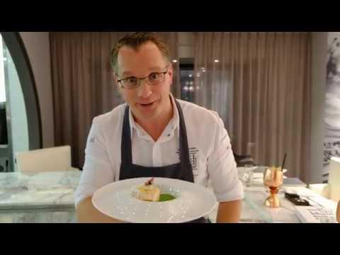 chef-onno-kokmeijer-presents-his-seabass-dish-at-restaurant-ciel-bleu,-amsterdam,-the-netherlands