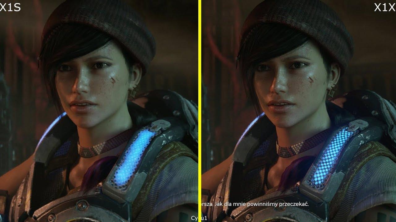 gears of war 4 xbox one s vs xbox one x 1080p enhanced graphics