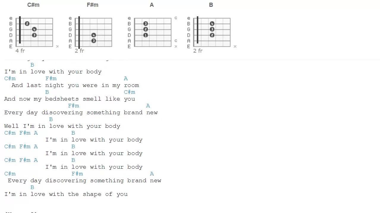 Shape of you ed sheeran chords youtube shape of you ed sheeran chords hexwebz Gallery