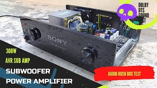 Subwoofer Amplifier For Avr / Audio Rush Box Dolby Dts Sound Test /M200 power amplifier Audio test /