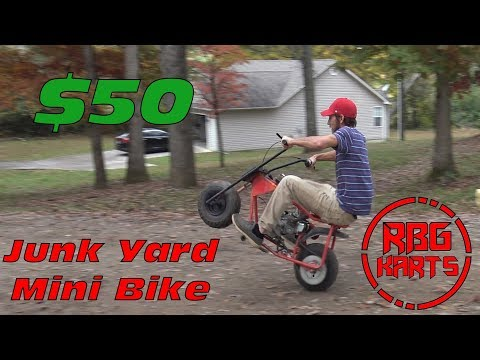 $50 Junk Yard Mini Bike Build & Wreck ~ Mini Bike Monday
