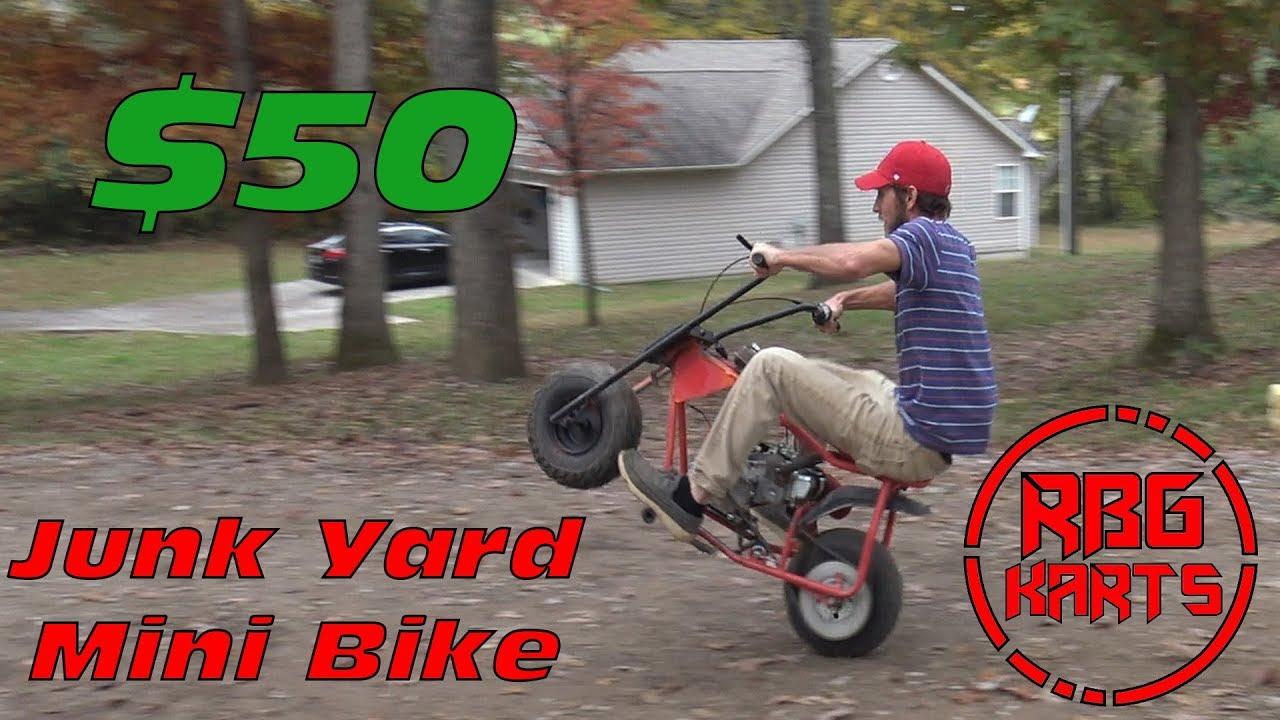 Mini Bike Junkyard : Junk yard mini bike build wreck monday