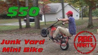 $50 Junk Yard Mini Bike Build & Wreck ~ Mini Bike Monday