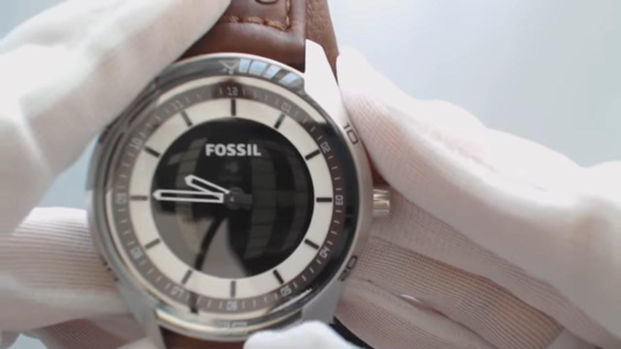 Mens Fossil Coachman Digital Leather Band Watch Jr1471 Youtube Fs5176