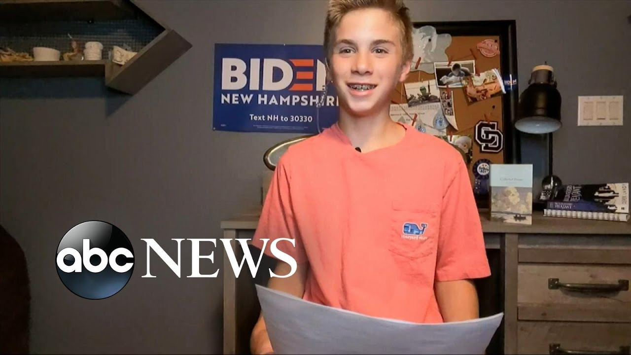 Teen who bonded with Biden over stutter delivers powerful rendition ...