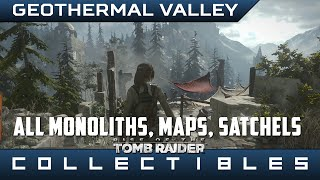 rise of the tomb raider geothermal valley monoliths maps explorer satchels locations guide
