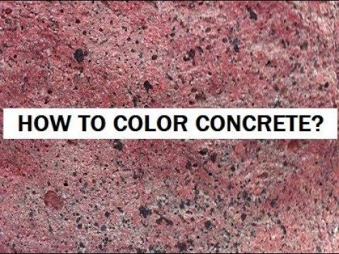 How Do You Color Concrete