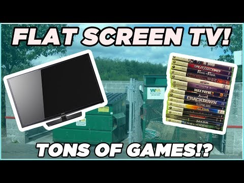Gamestop Dumpster Diving MEGA Jackpot! HUGE Stack Of Games + FLAT SCREEN TV! Night 183