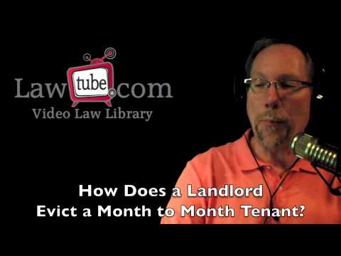 How does landlord evict tenant on a month to month lease