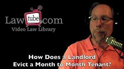 How does landlord evict tenant on a month to month lease?