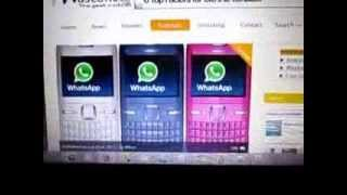 How to install Whatsapp on Nokia Asha 200 part 1