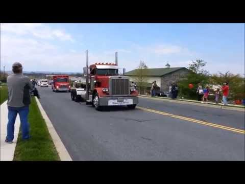 2014 Make A Wish Truck Convoy Gettysburg PA