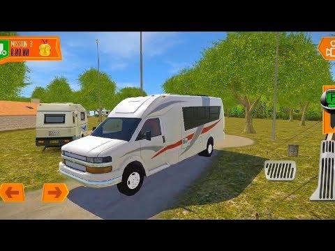 Camper Van  Beach Resort | Realistic Driving Game #1 | ANDROID VIDEO GAME |