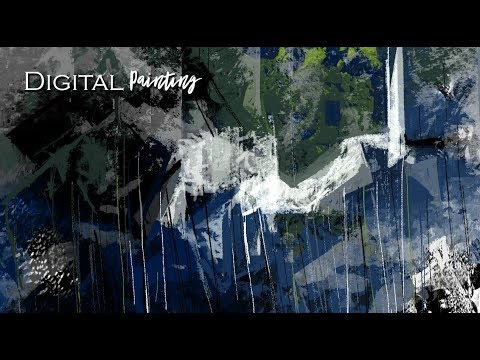 Digital Painting | Abstract Art | Digital brush canvas | Photoshop painting | Art Tutorial