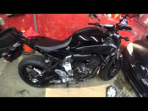FZ07 M4 Slip On Exhaust Install and First Ride