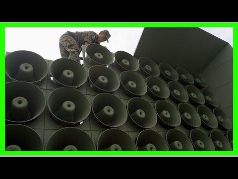 Us Latest News - Korea North Korea taunts through troops of news broadcasting through loudspeakers,