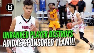 UNRANKED PLAYER DESTROYS ADIDAS SPONSORED TEAM! Ballislife Highlights