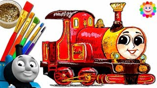 How to Draw Thomas and Friends Trains For Children Video LADY Coloring Art for Kids
