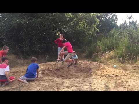 Verspringen op de zandberg