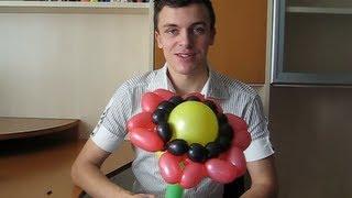 Цветок из ШДМ. Вкусный подсолнух из шариков. Попробуем? Легков.(Как сделать подсолнух из шариков ШДМ? Очень просто! Надо сделать семечьку из шариков, и посадить ее в землю...., 2013-10-07T08:06:38.000Z)