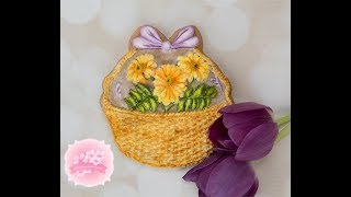 Create Royal Icing Basket of Daisies for Mum Cookies 🌼🍃💞