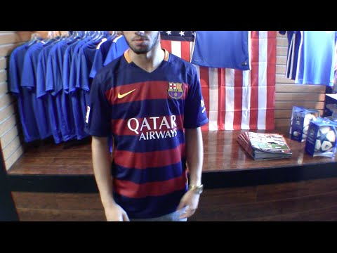 sale retailer 0c1b1 283b7 fc barcelona home kit 2015