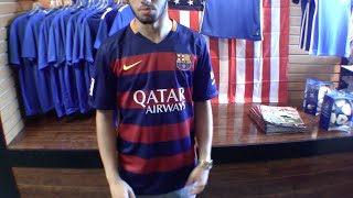 Shop for great deals on soccer cleats here: http://www.eastcoastsoccershop.com/ check out an in-depth review of the 2015/16 fc barcelona home jersey with red...