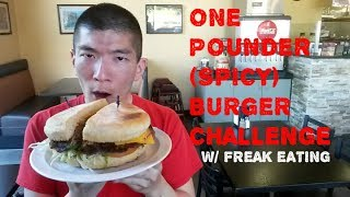 World Famous Grill One Pounder Burger Challenge (ft. FreakEating)