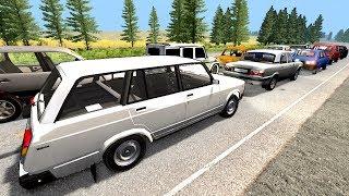 ВЛЕТЕЛ В ПРОБКУ НА СКОРОСТИ 700 КМ/Ч | BeamNG.drive
