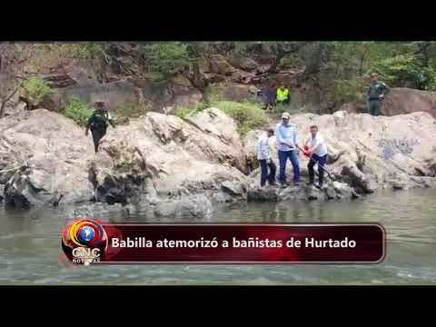 Babilla es sorprendida nadando en las aguas del río Guatapurí