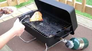 Salmon and Lamb using Char Broil 190 Tabletop Gas Grill Model 465133010