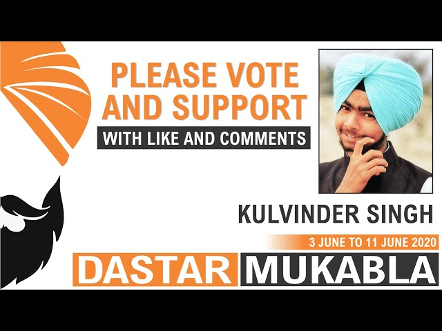 KULVINDER SINGH || Dhansikhi Dastar Mukabla || Dhansikhi Turban Tying Compitition 2020