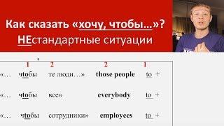 """Как на английском сказать """"хочу, чтобы"""". Часть 2. Уроки английского языка с Константином Ганушевичем"""