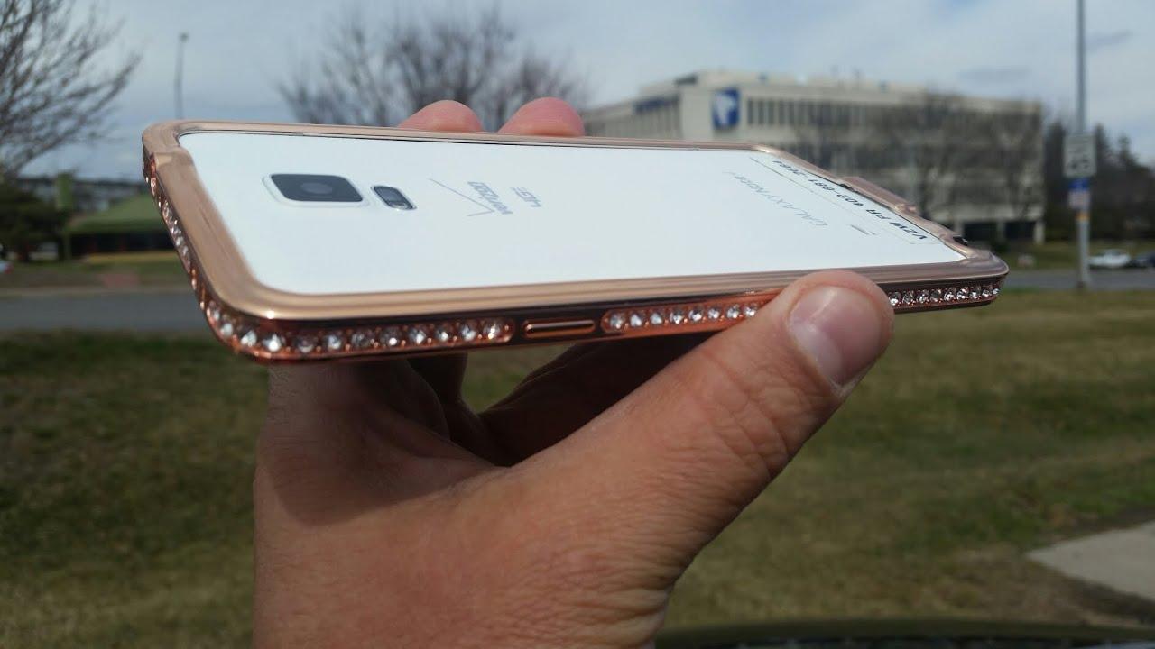 Samsung Galaxy Note 4 - Cellairis Gold & Dimond Metal Case