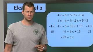 Matematik - Ligninger (Grundskole 7.-10. klasse)