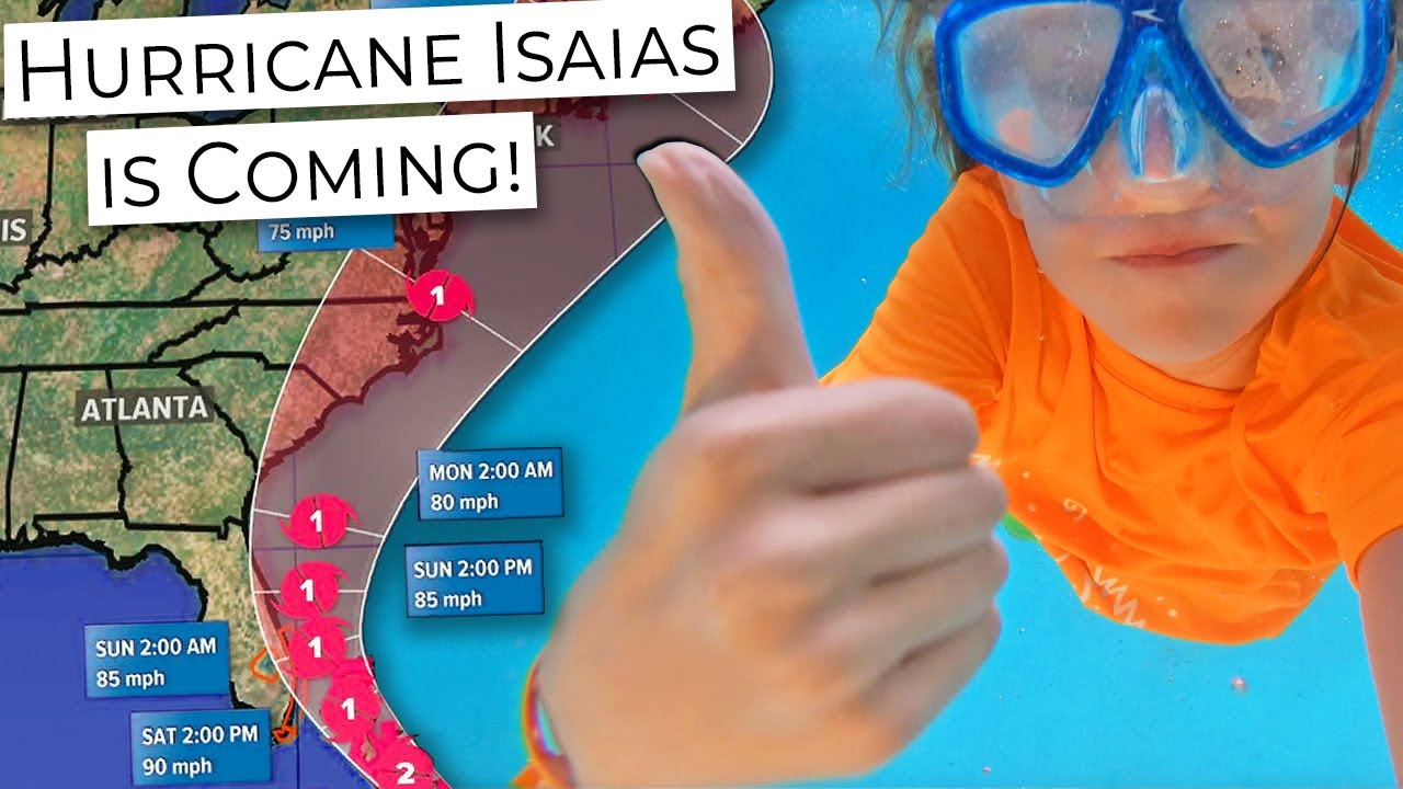 Last time in the pool before Category 1 HURRICANE Isaias hits us in Florida!