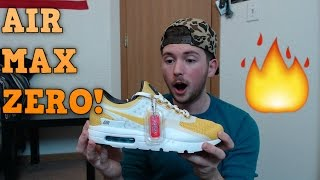 Yellow Nike Air Max Zero Unboxing Review + First Thoughts!