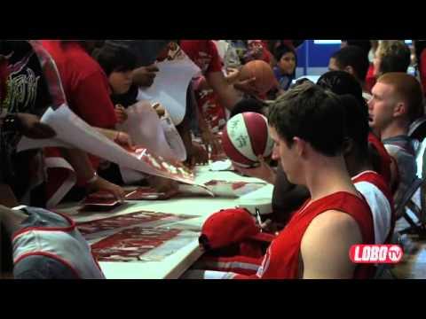 2012-13 Lobo Men's Basketball | Visit To Laguna Acoma High School