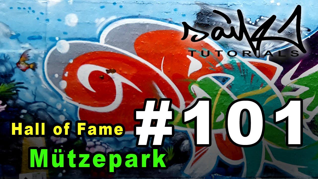 Saikone graffiti tutorial 101 hall of fame mützepark unterwasserwelt youtube