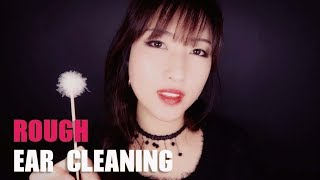 ASMR. Rough & Fast Ear Cleaning (No Talking)