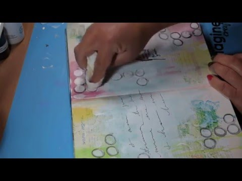 Mixed Media Art Journaling Techniques with Faber-Castell Gelatos
