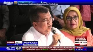 JK: Pemerintah Tidak Batasi Waktu Pencarian AirAsia
